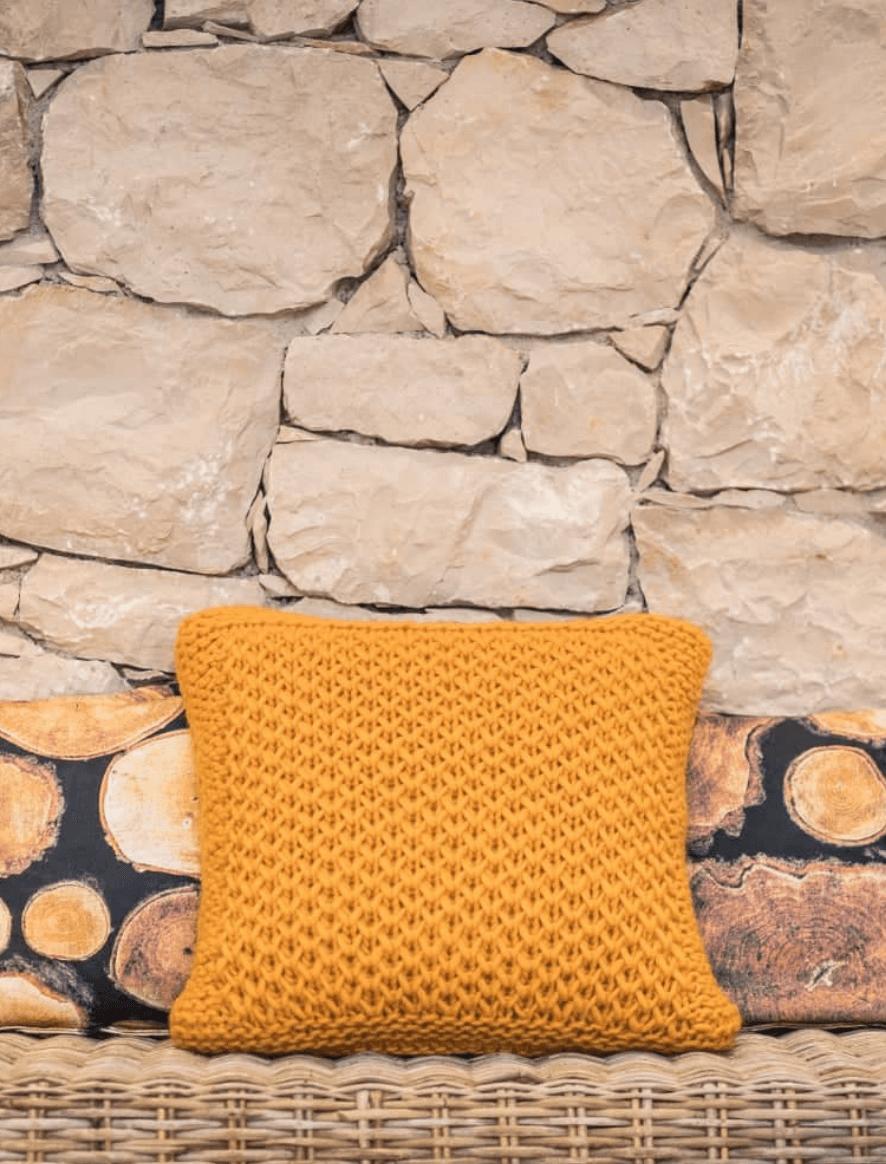 154 | Bulky Light mustard cushion